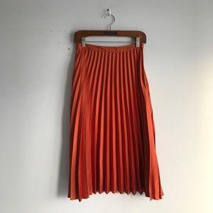 TOPSHOP sunpleat metallic skirt